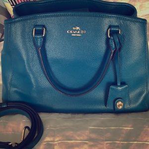Teal Coach purse